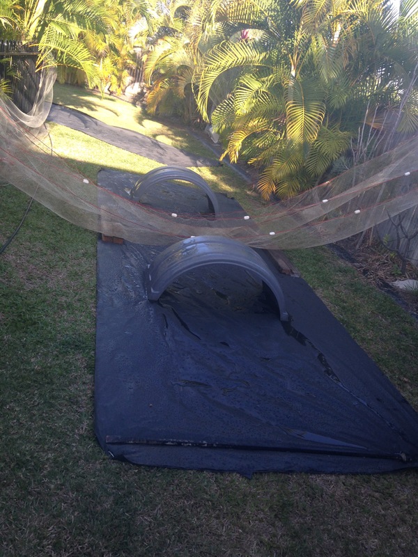 upcycled into a great slip and slide for a kids party.