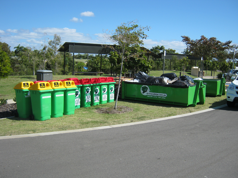 Event waste management - rubbish and recycle bins